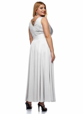 Μάξι Φόρεμα Κρουαζέ Ασημί 2021_01_25-Maniags0174 Maniags