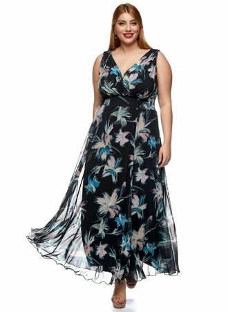 Φόρεμα Μάξι Αμάνικο Φλοράλ Maniags