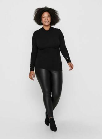 Μπλούζα Μαύρη Ζιβάγκο με Πέρλες στο Μανίκι 15217892_Black_005_ProductLarge Maniags