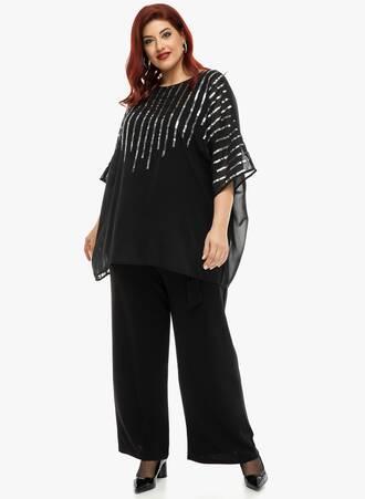 Μπλούζα Μαύρη Αμπιγέ Sequin 'Yours' 2019_12_11-Maniags4456 Maniags