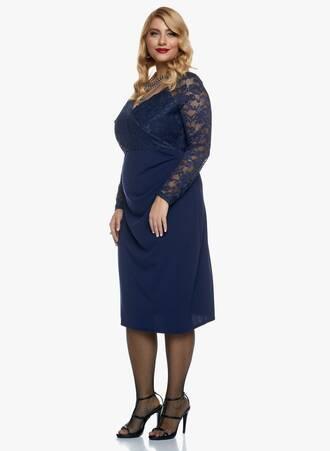 Φόρεμα Midi Navy με Δαντέλα 2020_11_02_Maniags_0247_hht6-3x Maniags