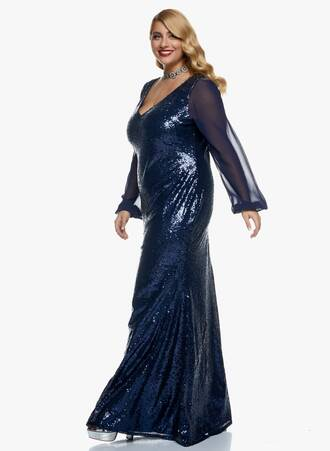 Φόρεμα Maxi Navy Παγιέτα 2020_11_02_Maniags_0424 Maniags