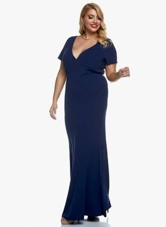 Φόρεμα Navy Μάξι Scuba Crepe 2020_11_02_Maniags_0662 Maniags