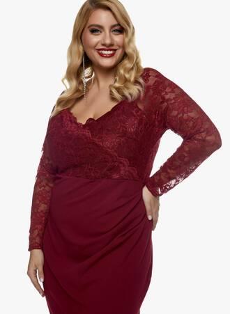 Φόρεμα Μπορντό Midi με Δαντέλα 2020_11_02_Maniags_0803 Maniags