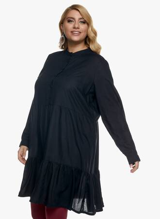 Μαύρο Φόρεμα με Μάο Γιακά 2020_11_02_Maniags_1303 Maniags
