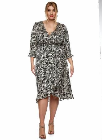 Midi Φόρεμα Κρουαζέ Leopard Maniags
