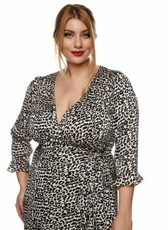 Midi Φόρεμα Κρουαζέ Leopard 2021_01_25-Maniags0725 Maniags