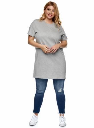 Βαμβακερό Μακρύ T-shirt Γκρι Maniags