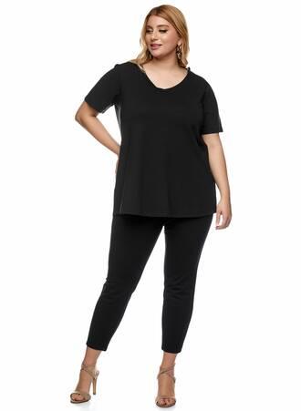 Basic Ελαστικό T-shirt Μαύρο 2021_01_25-Maniags1467 Maniags