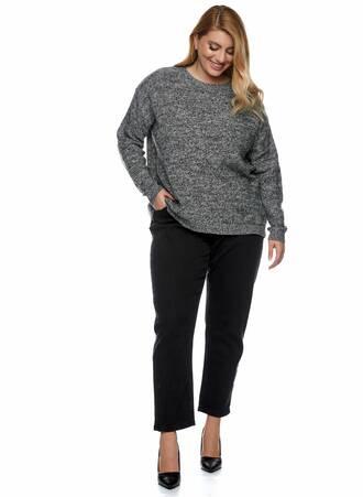 Πλεκτή Μπλούζα Γκρι με Φερμουάρ στην Πλάτη 2021_01_25-Maniags2129 Maniags