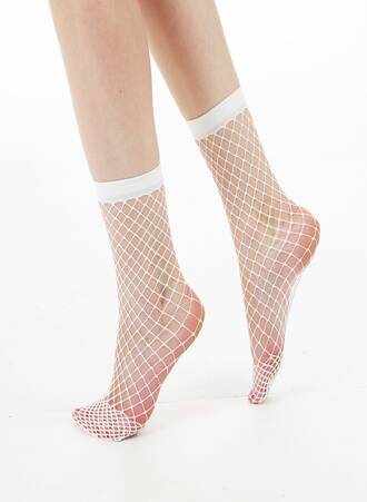 Λευκές Διχτυωτές Κάλτσες Αστραγάλου Maniags