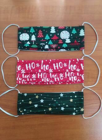 Υφασμάτινες Μάσκες Προστασίας 3 τμχ Χριστουγεννιάτικες Maniags