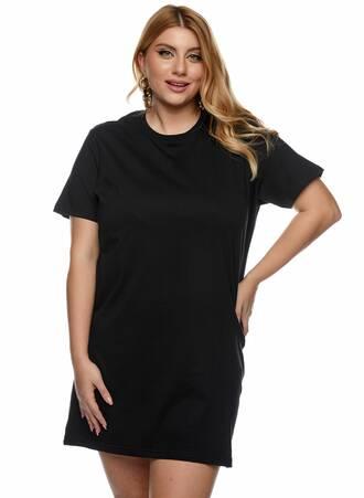 Βαμβακερό Μακρύ T-shirt Μαύρο Maniags