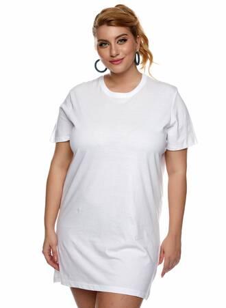 Βαμβακερό Μακρύ T-shirt Άσπρο Maniags