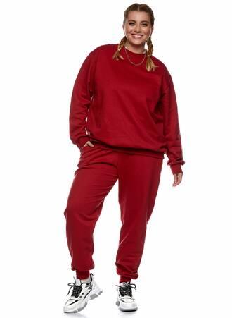 Μπλούζα Φούτερ Κόκκινη με Φλις Επένδυση 2021_01_25-Maniags2246 Maniags