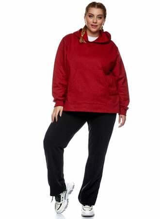 Μπλούζα Φούτερ με Κουκούλα Κόκκινη 2021_01_25-Maniags2320 Maniags