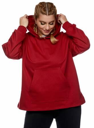 Μπλούζα Φούτερ με Κουκούλα Κόκκινη Maniags