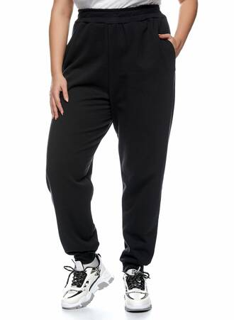 Παντελόνι Φόρμα Μαύρη με Φλις Επένδυση Maniags