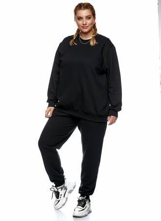 Μπλούζα Φούτερ Μαύρη με Φλις Επένδυση 2021_01_25-Maniags2426 Maniags