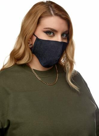 Υφασμάτινες Μάσκες Προστασίας 3 τμχ Τζιν Maniags