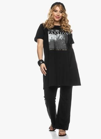 Μακρύ T-shirt Μαύρο με Τύπωμα 2021_03_26-Maniagz0992 Maniags