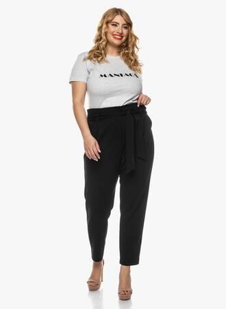 Ελαστικό Μαύρο Παντελόνι με Ζώνη 2021_03_26-Maniagz2447 Maniags