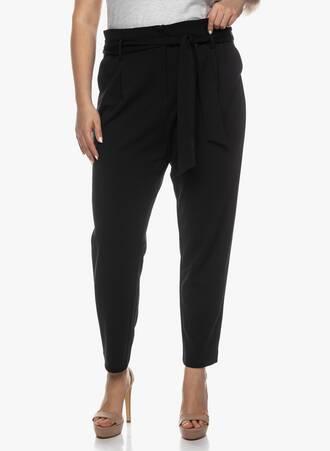 Ελαστικό Μαύρο Παντελόνι με Ζώνη Maniags