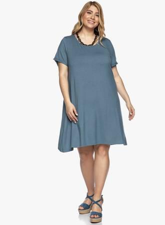 Jersey Φόρεμα Μπλε Casual Maniags
