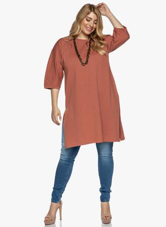 Βαμβακερό Midi Μπλουζο-Φόρεμα Εκάι Maniags
