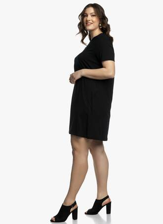 Βαμβακερό Φόρεμα Μαύρο σε 'Α' γραμμή 2021_04_27_Maniagz2996-copy Maniags