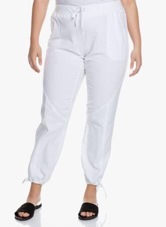 Βαμβακερό Λευκό Παντελόνι Maniags