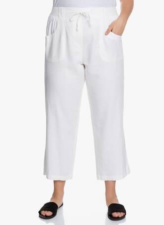 Λινή Παντελόνα Λευκή 2020_05_27_Maniags5392 Maniags