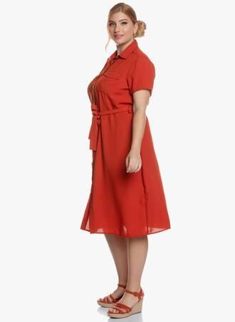 Σεμιζιέ Φόρεμα Midi Πορτοκαλί 2020_05_27_Maniags6079 Maniags