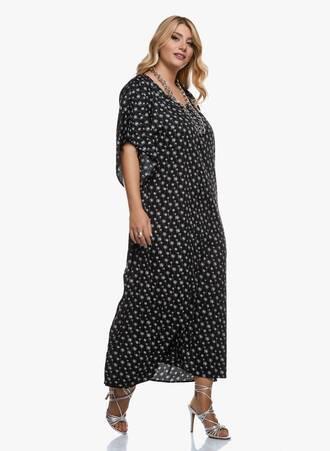 Καφτάνι Φόρεμα Μάξι Ασπρόμαυρο 2020_09_15-Maniags2961 Maniags