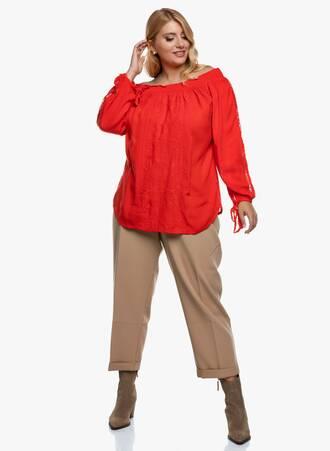 Κόκκινη Έξωμη Μπλούζα Crinkle 2020_09_15-Maniags3345 Maniags