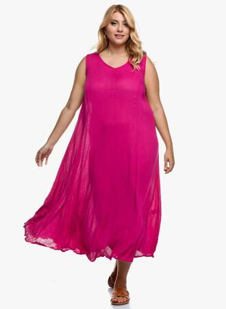 Φόρεμα Αμάνικο Μάξι Φούξια Maniags