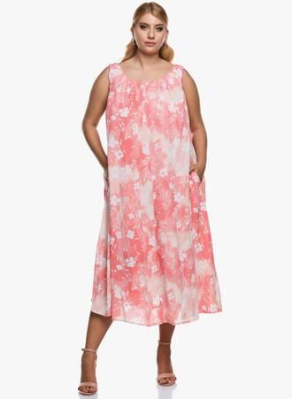 Αμάνικο Μάξι Φόρεμα Φλοράλ Maniags