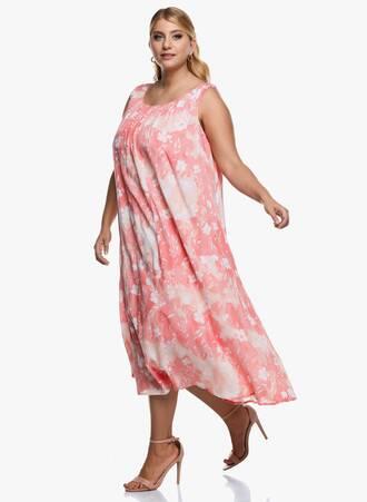 Αμάνικο Μάξι Φόρεμα Φλοράλ 2020_09_15-Maniags4524 Maniags