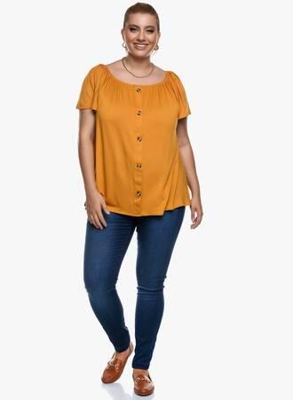Μπλούζα Έξωμη Μουσταρδί με Κουμπιά 2020_09_16-Maniags4940 Maniags