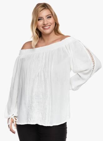 Μπλούζα Boho Λευκή Έξωμη 2020_09_17-Maniags6150 Maniags