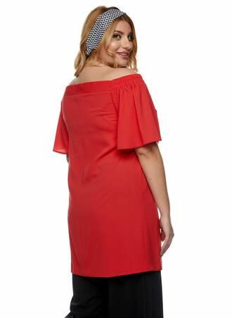 Μπλουζοφόρεμα Bardot Κοραλί 2021_01_25-Maniags1224 Maniags