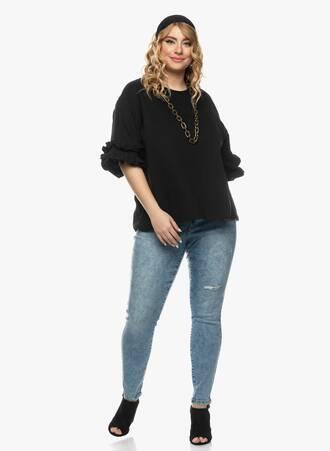 Μπλούζα με Βολάν στο Μανίκι Μαύρη 2021_03_26-Maniagz1126 Maniags