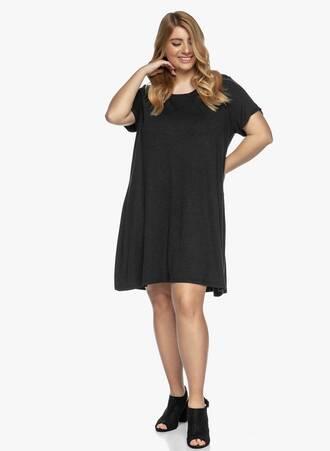 Jersey Φόρεμα Μαύρο Casual Maniags