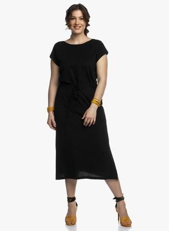 Βαμβακερό Φόρεμα Μαύρο Μάξι Maniags