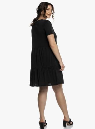 Μαύρο Φόρεμα με Κοντό Μανίκι και Βολάν 2021_04_27_Maniagz2379-copy Maniags