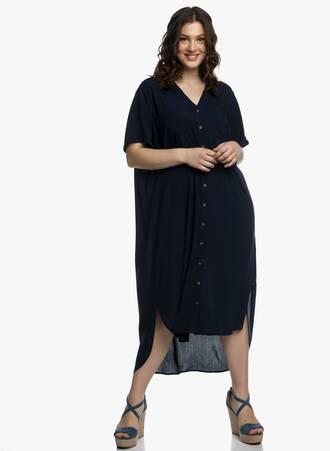 Φόρεμα Σεμιζιέ Μπλε Maniags