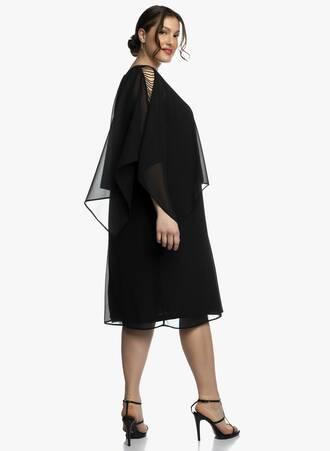 Αμπιγιέ Φόρεμα Ζωρζέτα με Μεταλλική Λεπτομέρεια στο Μανίκι 2021_04_27_Maniagz3176-copy Maniags