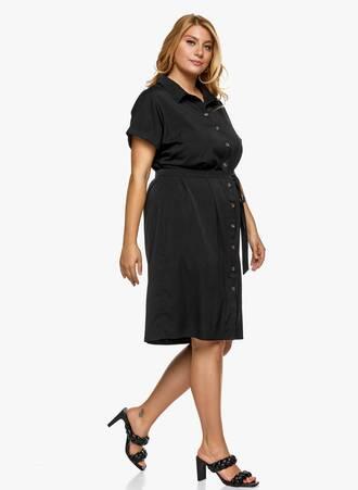 Φόρεμα Σεμιζιέ Μαύρο με Ζωνάκι 2021_06_25_Maniagz-II2996 Maniags