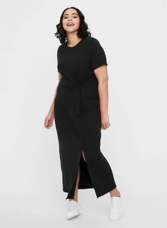 Μάξι Φόρεμα Μαύρο Κοντομάνικο vm__3349485__front1 Maniags