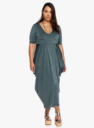 Φόρεμα Πετρόλ Ντραπέ 2019_06_12-Maniags8143 Maniags